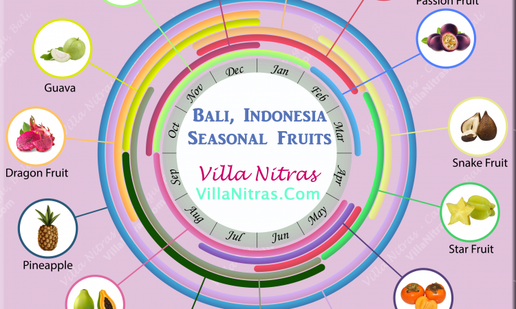 Bali Indonesia Bali Indonesia Tropical Fruit Season - mango, rambutan, mangosteen, passion fruit, snake fruit, star fruit, persimmon, soursop, watermelon, pomelo, papaya, pineapple, dragon fruit, guava, jackfruit, jack fruit, Choose Ripe Fruit - infographic list